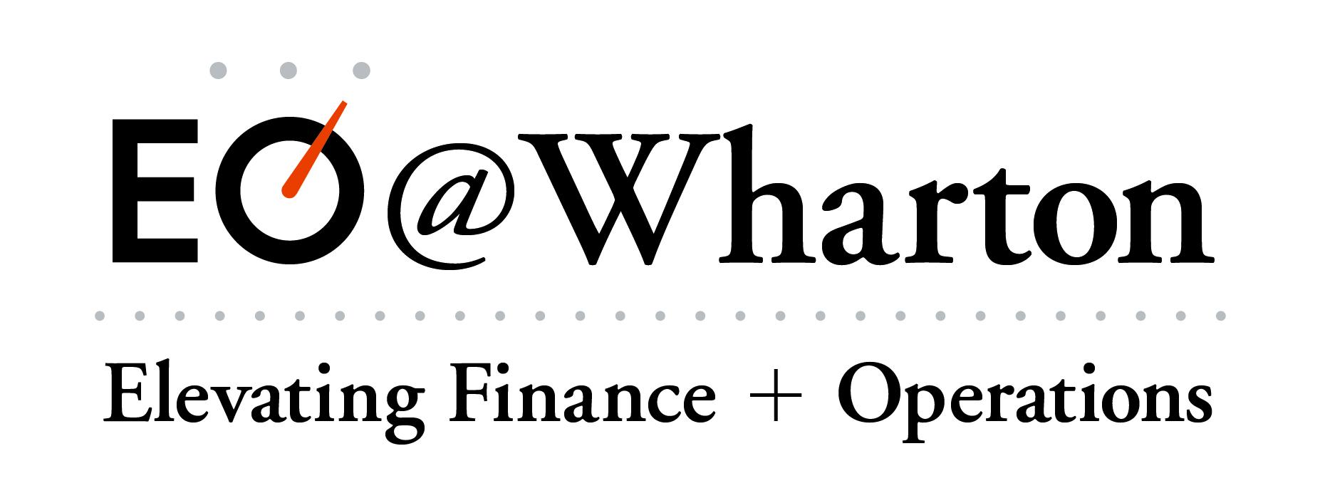 2018 EO@Wharton: Elevating Finance + Operations